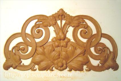 Panneau arrondi n°6 - style baroque