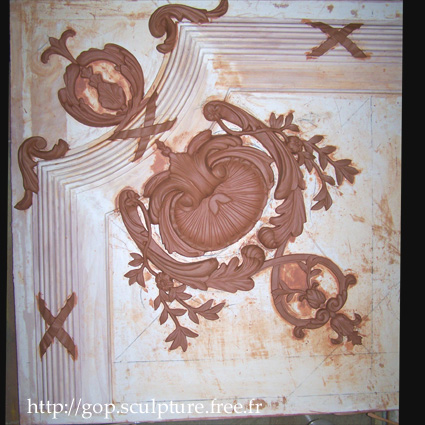 Coquille d'angle n°11A - Style baroque