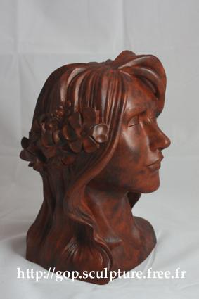 Inspiration Art Nouveau: Etude de buste